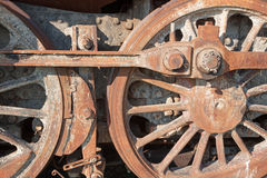 Detail of old steam locomotive Stock Photo