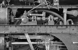 Detail of old steam locomotive Stock Photography