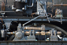 Detail of old steam locomotive Stock Images