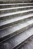 Detail of an old stone staircase Stock Photo