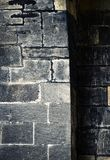 Detail of the old stone wall stock photography