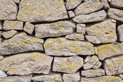 Detail of an old stone wall. Close up detail of an old stone wall Stock Photography
