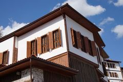 Detail, Old style Turkish konak country house Royalty Free Stock Images