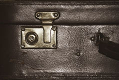 Detail of an old suitcase Royalty Free Stock Images