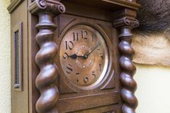 Detail from an old tower clock. Exposed in a museum royalty free stock images