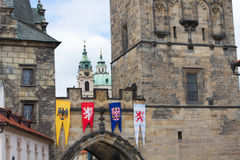 The detail of Old Town bridge Royalty Free Stock Images