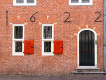 Detail of old town hall of Oud-Beijerland, Netherlands Royalty Free Stock Photos