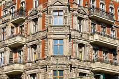 Detail of an old town house Stock Photography