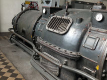Detail of an old turbo generator Stock Image