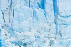 Detail of Perito Moreno Glacier in Argentina. Detail of a old turquoise ice of Perito Moreno glacier. Los Glaciares national park, Argentina Stock Image