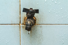 Detail of an old type water tap. Stock Photography