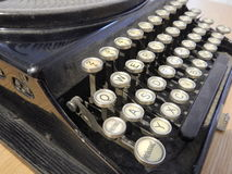 Detail of an old type writer keyboard Stock Photography