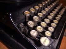 Detail of an old type writer keyboard. A detail of an old type writer keyboard Stock Images