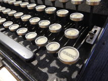 Detail of an old type writer keyboard. A detail of an old type writer keyboard Stock Image