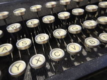 Detail of an old type writer keyboard. A detail of an old type writer keyboard Stock Photo