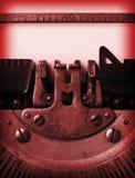 Detail of an old typewriter Stock Image
