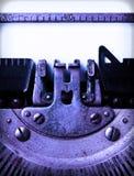 Detail of an old typewriter Royalty Free Stock Photos