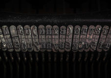 Detail of an old typewriter Stock Photos
