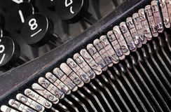 Detail of an old typewriter Royalty Free Stock Photo