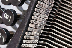 Detail of an old typewriter Royalty Free Stock Image