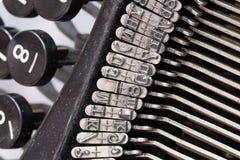 Detail of an old typewriter Royalty Free Stock Image