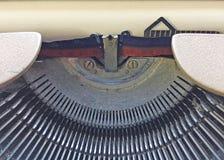 Detail of old typewriter Stock Images