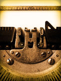 Detail of an old typewriter Royalty Free Stock Photography
