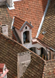 Detail of old Vilnius roofs from above Royalty Free Stock Photography