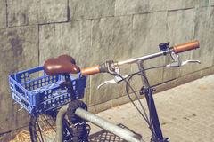 Detail of old vintage bicycle in Barcelona, Spain Stock Photography