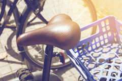 Detail of old vintage bicycle in Barcelona, Spain Royalty Free Stock Photography