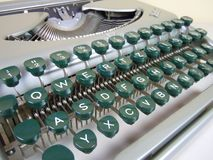 Detail of old vintage german groma typewriter royalty free stock photography