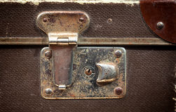 Detail of Old vintage suitcase Stock Images