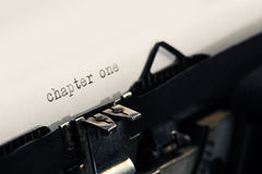 Detail of Old Vintage Typewriter Stock Photography