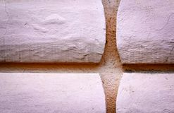 Detail old wall pink relief Royalty Free Stock Image