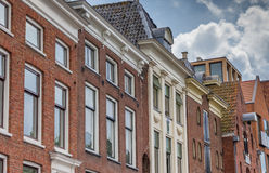 Detail of old warehouses at a canal in Groningen Royalty Free Stock Photos
