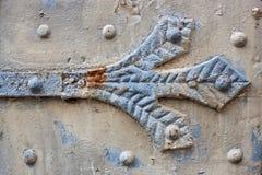 Detail of an old weatherd door Stock Photo