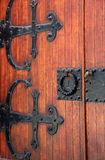 Detail of old,weathered wood doors Stock Image