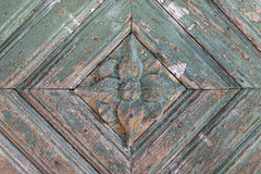 Detail of an old weathered wooden door Royalty Free Stock Image