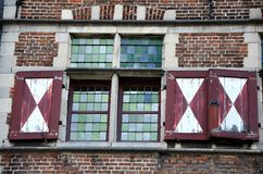 Detail of old windows, Gent Stock Photos