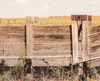 Detail of Old Wood and Metal Livestock Chute Rural America (Anti Royalty Free Stock Images