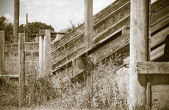 Detail of Old Wood and Metal Livestock Chute Rural America (Anti Royalty Free Stock Photos