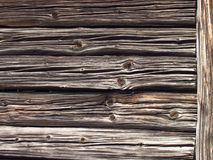 Detail of old wooden beams of rural farm buildings. Wooden texture Royalty Free Stock Photography