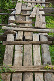 Detail of the old wooden bridge Stock Photos