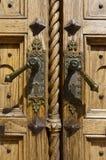 Detail of Old Wooden Door Stock Photo