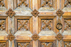 Detail of an old wooden door Royalty Free Stock Photos