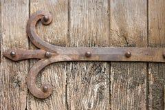 Detail of old wooden door Royalty Free Stock Photo