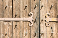 Detail of an old wooden door Royalty Free Stock Images