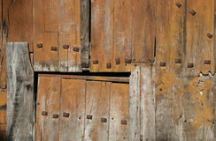 Detail Of Old Wooden Door Stock Photography