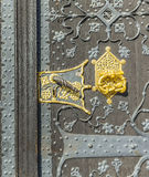 Detail of old wooden door of townhall  in Frankfurt Stock Photography