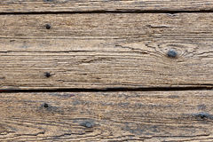Detail of old wooden floor Royalty Free Stock Images